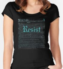Resist With Constitution We The People Anti Trump Women's Fitted Scoop T-Shirt