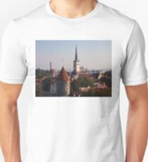 Rooftops Of Tallinn Unisex T-Shirt