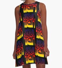 SOUL TRAIN (SUNSET) A-Line Dress