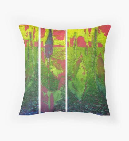 Carnivale, Courtesans and Canals Sunset Throw Pillow