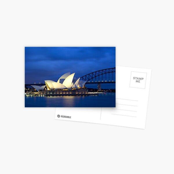 Sydney Opera House before dawn  Postcard