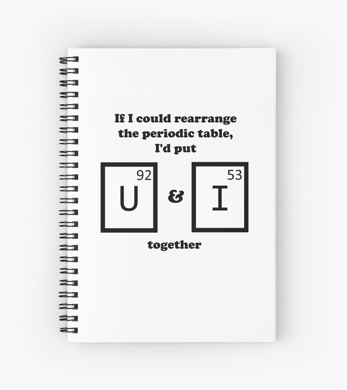 If I Could Rearrange The Periodic Table Spiral Notebooks By