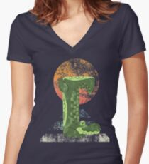 Yoga Croc Women's Fitted V-Neck T-Shirt