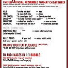 The unOfficial RedBubble Format CheatSheet .. thang by webgrrl