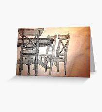 Chairs Greeting Card
