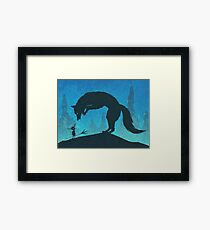 Boy and Fox Framed Print