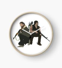 Daryl Dixon and Rick Grimes - The Walking Dead Clock