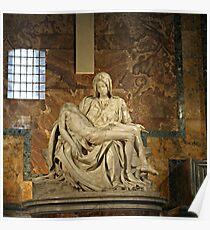 Michelangelo's Pieta in St. Peter's Basilica                                              Poster
