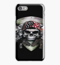 Military Skull With Crossed Gun Special Warfare                                    iPhone Case/Skin