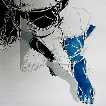 Crossed legs blue by crayvagay