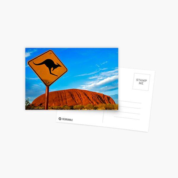 Uluru and a Kangaroo Postcard