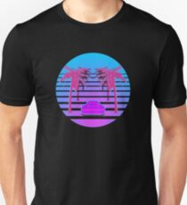Drive Down Vapor Wave Unisex T-Shirt