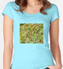 Impressionist Poppies Women's Fitted Scoop T-Shirt
