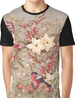 Christmas Collage Graphic T-Shirt