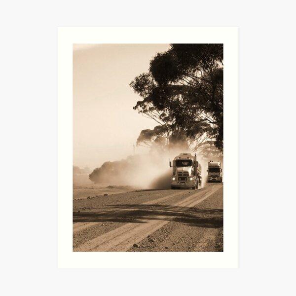 Bulldust Drive Art Print