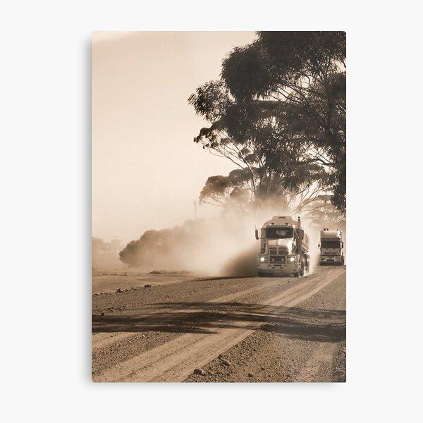 Bulldust Drive Metal Print