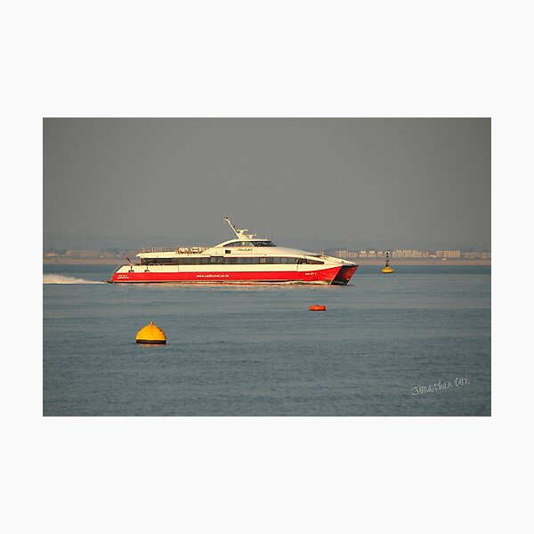 Red Jet 4 approaching Cowes Photographic Print