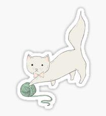 Cat with Yarn Sticker