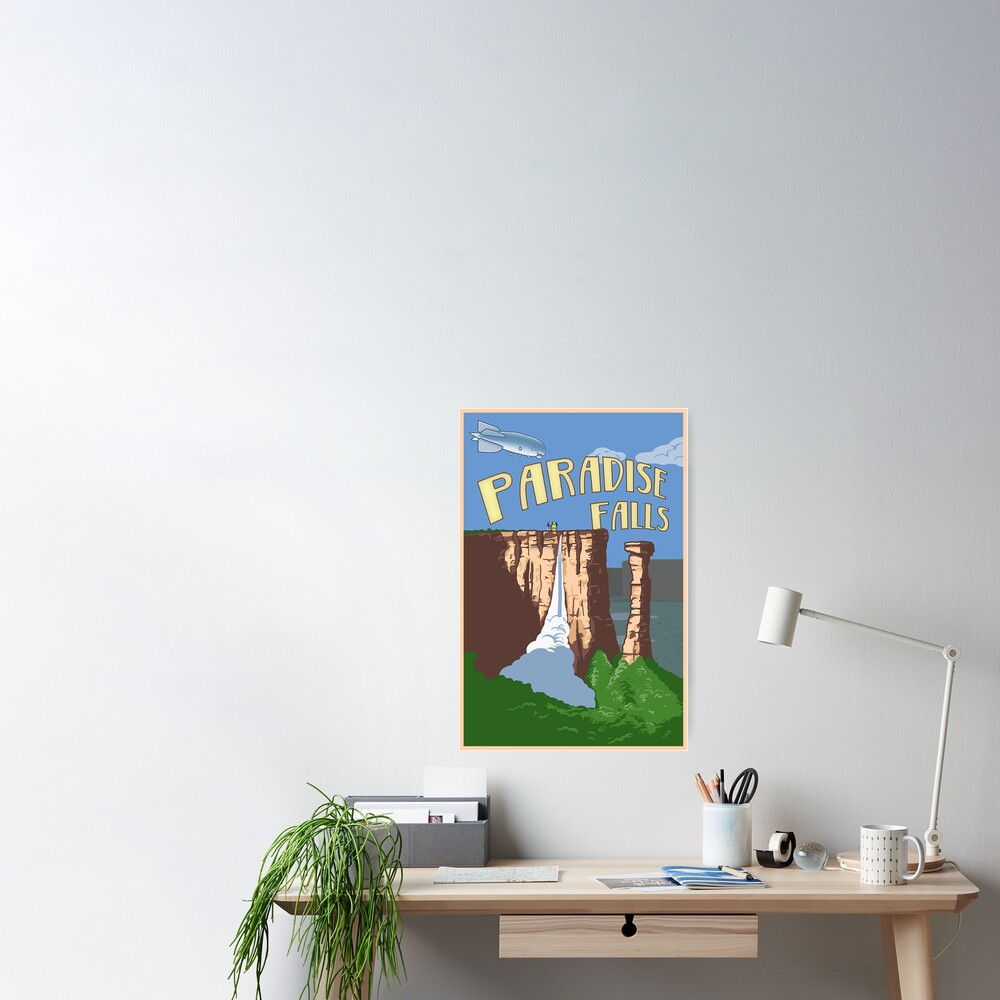Paradise Falls Travel Poster Poster