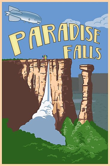 Quot Paradise Falls Travel Poster Quot Posters By Bgwdesigns