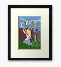 Paradise Falls Travel Poster Framed Print