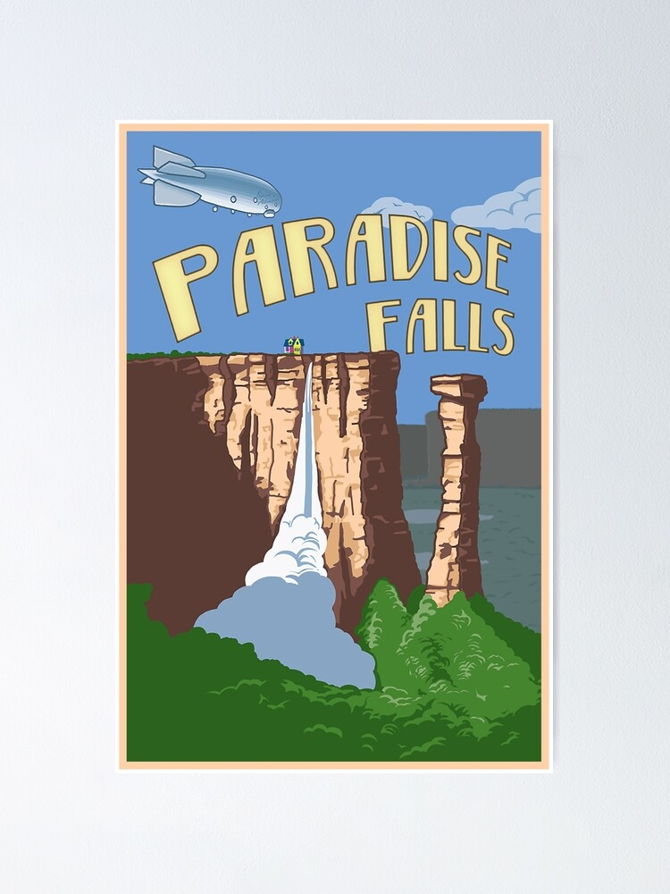 Alternate view of Paradise Falls Travel Poster Poster