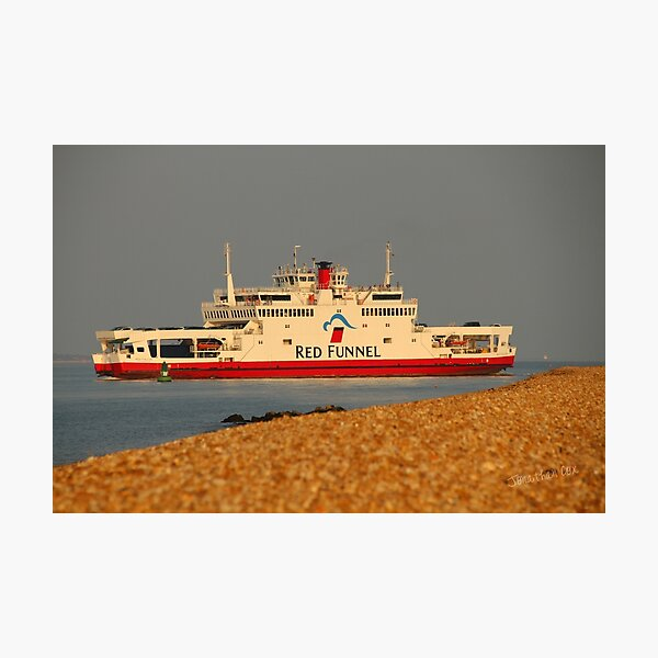 Red Falcon leaving Cowes Photographic Print