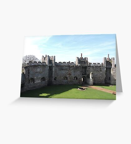 The Walls Of Framlingham Castle Greeting Card