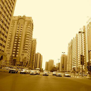 Abu Dhabi main street  by darkhorseaustralia