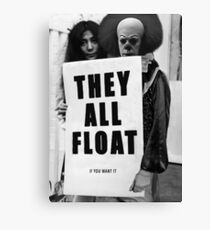 Pennywise with Yoko Ono: They All Float Canvas Print