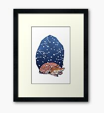Sleeping Fawn Framed Print