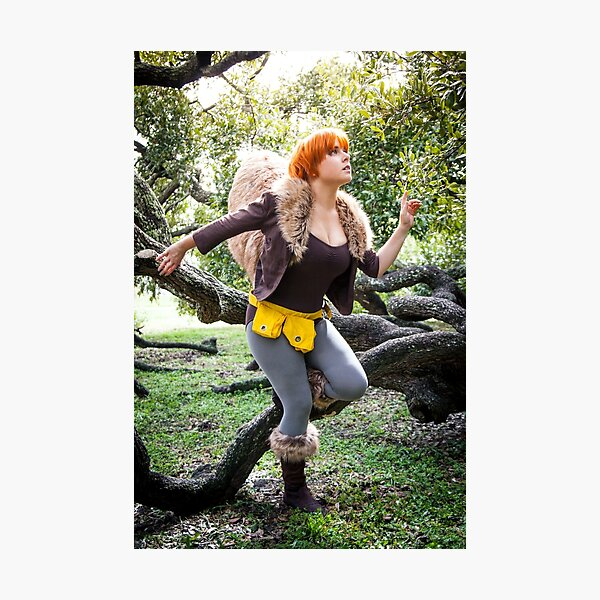 Squirrel Girl looking Up Photographic Print