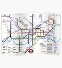"London Underground ""tube map"" Poster"