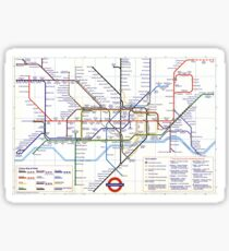 "London Underground ""tube map"" Sticker"