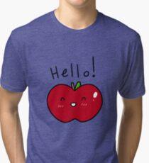 Hello! Apple Tri-blend T-Shirt