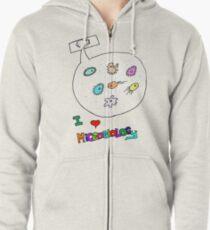 I love microbiology- school style Zipped Hoodie