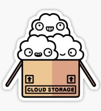 Cloud storage Sticker