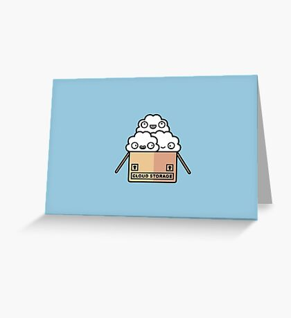 Cloud storage Greeting Card