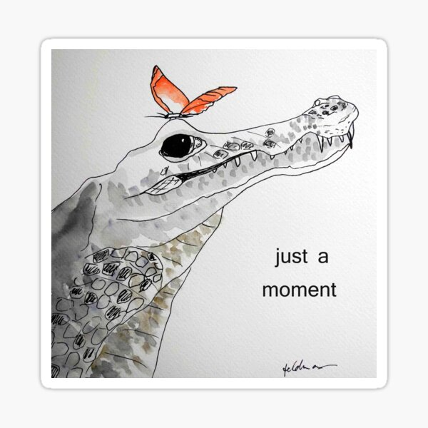 crocodile - just a moment Sticker