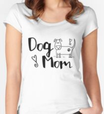 Dog Mom Women's Fitted Scoop T-Shirt