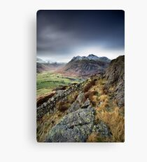 Side Pike Winter Canvas Print