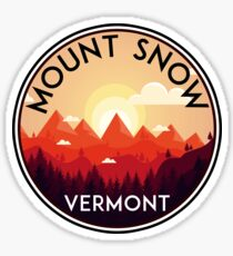 SKI MOUNT SNOW VERMONT SKIING SNOWBOARDING HIKING CLIMBING DOVER 4 Sticker