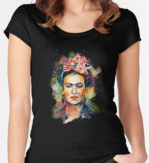 Frida Kahlo (Dark Edition) Women's Fitted Scoop T-Shirt