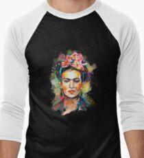 Frida Kahlo (Dark Edition) Men's Baseball ¾ T-Shirt