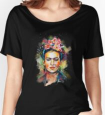 Frida Kahlo (édition sombre) T-shirts coupe relax