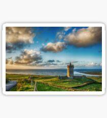 Doolin Castle Sunset Landscape County Clare Ireland Sticker