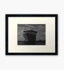 ship at rest Framed Print