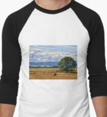 Rural Nature Countryside Scenic Landscape Photography Men's Baseball ¾ T-Shirt