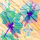 Colorful Dragonflies by Vitta