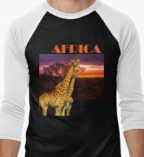 Africa Giraffes and African Sunset T-Shirt